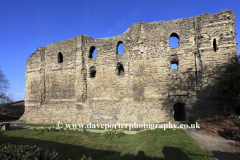 Spring view of Canterbury Castle