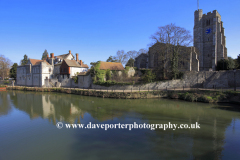 All Saints church, river Medway, Maidstone town