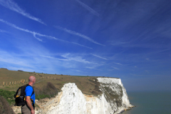 Walker at the White Cliffs of Dover