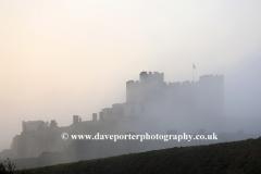 Misty dawn over Dover Castle