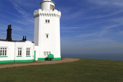 Lighthouse at St Margarets at Cliff village