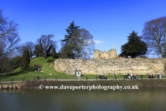 City walls and the river Medway, Tonbridge Castle