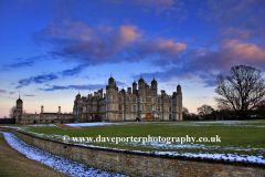 Winter Sunset, Burghley House