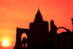 Sunset over Crowland Abbey; Crowland