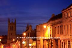 Stamford Town at night
