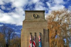 The War Memorial gardens; Bourne
