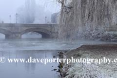 Frosty scene, river Welland Meadows, Stamford
