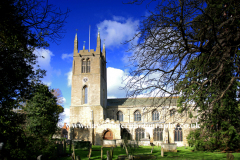 The Abbey church Bourne Market Town