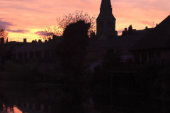 Sunset, St Marys church, market town of Stamford