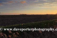 Sunset over fields near Folkingham village