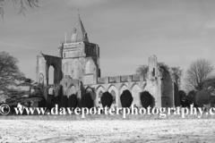 Winter snow; Crowland Abbey; Crowland