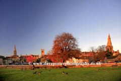 Sunset, Stamford Meadows, Stamford churches