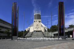 Exterior of the Metropolitan Cathedral of Christ the King, Liverpool, Merseyside, England, UK