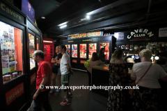 Inside the Cavern club in Mathew Street, Liverpool City, Merseyside, England, UK