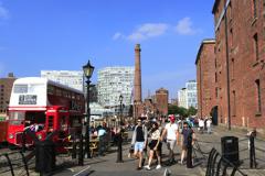 The Royal Albert Dock, George's Parade, Pier Head, UNESCO World Heritage Site, Liverpool, Merseyside, England, UK