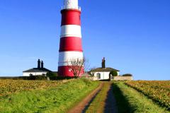 J1349 Happisburgh Lighthouse, North Norfolk Coast, England, Britain, UK