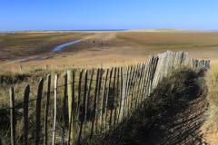Sand Dunes on Holkham Bay Beach, National Nature Reserve, Holkham village, North Norfolk Coast, England, UK
