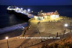 Summer, June, July, Pavilion Theatre pier, Cromer town, North Norfolk Coast, England, UK