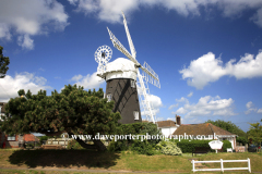 Stow Windmill, Mundesly village; North Norfolk Coast; England; UK