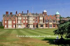 Summer, June, July, Sandringham House and Gardens, North Norfolk, England, Britain, UK, fine weather clouds, blue sky, landscapes, sunny, sunshine,