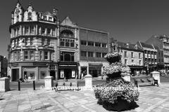 Town centre street view, Northampton town, Northamptonshire, England; Britain; UK