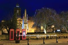 Christmas Lights, All Saints Church, Northampton town, Northamptonshire County, England; Britain; UK