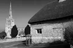 St Nicholas church, Bulwick village, Northamptonshire, England.