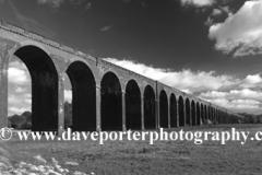 River Welland valley, Harringworth railway viaduct, Northamptonshire County, England