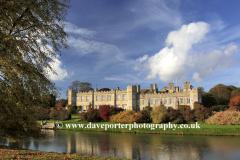 October, November, Autumn colours, Deene Hall, Northamptonshire, England, UK
