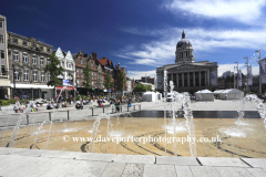 Water fountains, Nottingham city centre