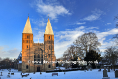 Winter snow over Southwell Minster, Southwell  town