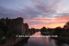 Sunset, the ruins of Newark Castle, Newark on Trent