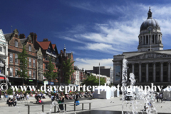 The Council House and fountains, Nottingham city