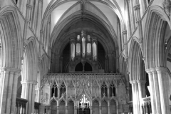 Interior of Southwell Minster, Southwell town