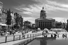 The Council House building and fountains, Nottingham