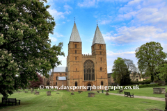 Southwell Minster in Spring, Southwell market town