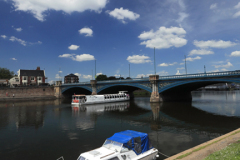 Boats on the river Trent, Trent Bridge, Nottingham