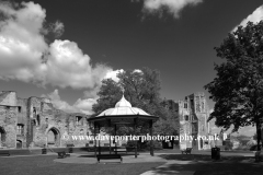 Bandstand and gardens, Newark Castle