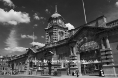 Frontage of Nottingham Railway station building