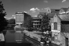 Narrowboats, Nottingham Canal, Waterfront area