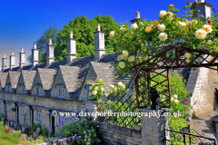 Summer, August, July, The Almshouses, Chipping Norton village, Oxfordshire Cotswolds; England; UK
