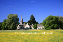 Summer, June, July, St Marys Church, Shipton under Wychwood, Oxfordshire Cotswolds, England, UK