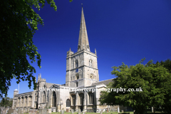 St Johns Church, Burford town, Oxfordshire Cotswolds, England, UK