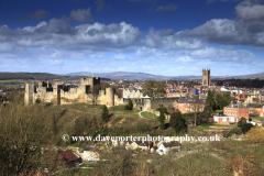 Spring view, Ludlow Castle, Ludlow town