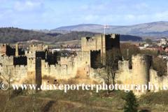 Spring, Ludlow Castle, Ludlow town