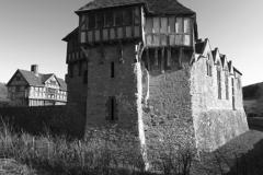 Stokesay Castle manor house, Craven Arms village