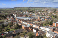 Rooftops of Ludlow from St Laurences church