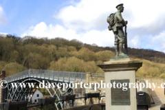 War memorial, river Severn, Ironbridge town