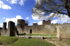 Spring,, Ludlow Castle, Ludlow town
