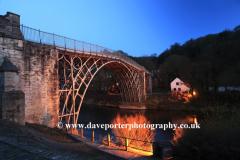 The bridge over the river Severn, Ironbridge town